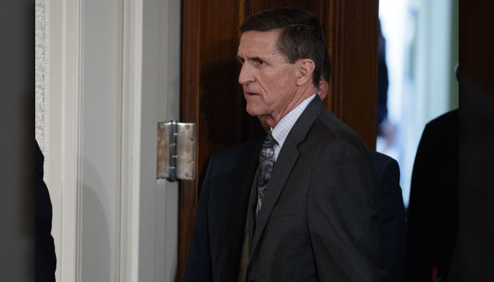 Mike Flynn - He resigned Feb. 13, 2017, as national security adviser for allegedly misleading Vice President Mike Pence over his contacts with Russia. He pleaded guilty on Dec. 1, 2017, to making false statements to the FBI in connection with the Russia probe. (AP Photo/Evan Vucci, File)