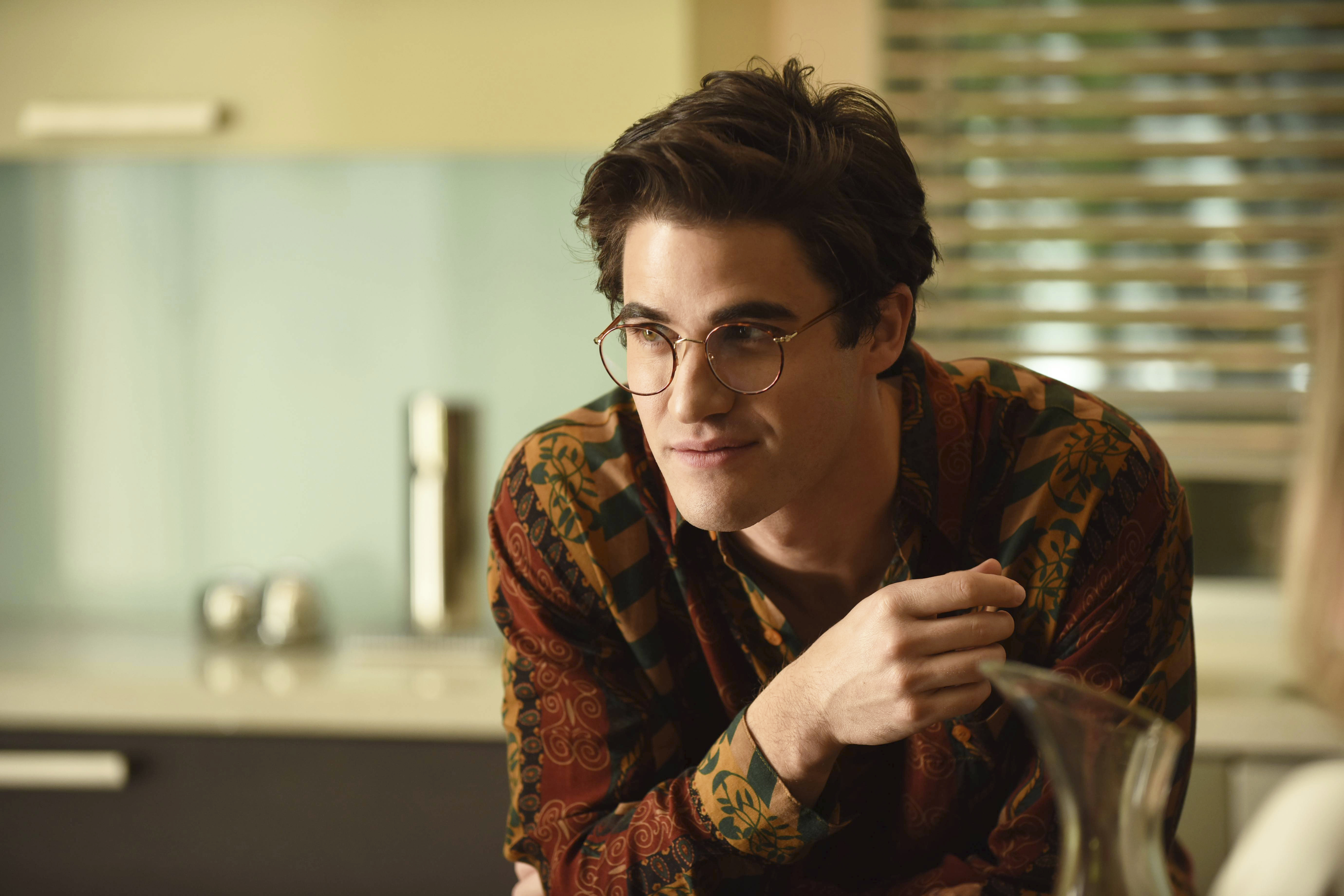 This image released by FX shows Darren Criss as Andrew Cunanan in a scene from