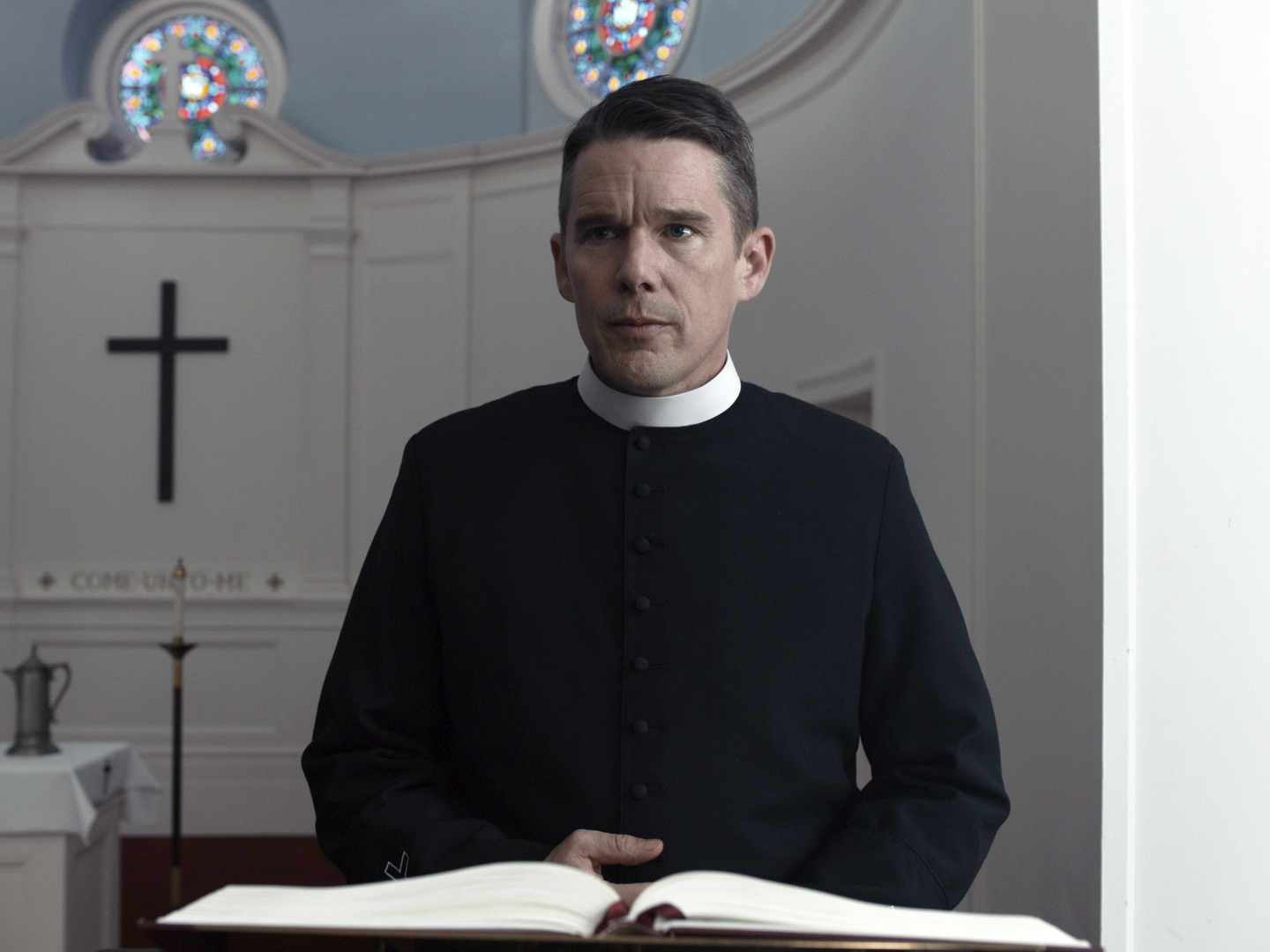 This image released by A24 shows Ethan Hawke in a scene from