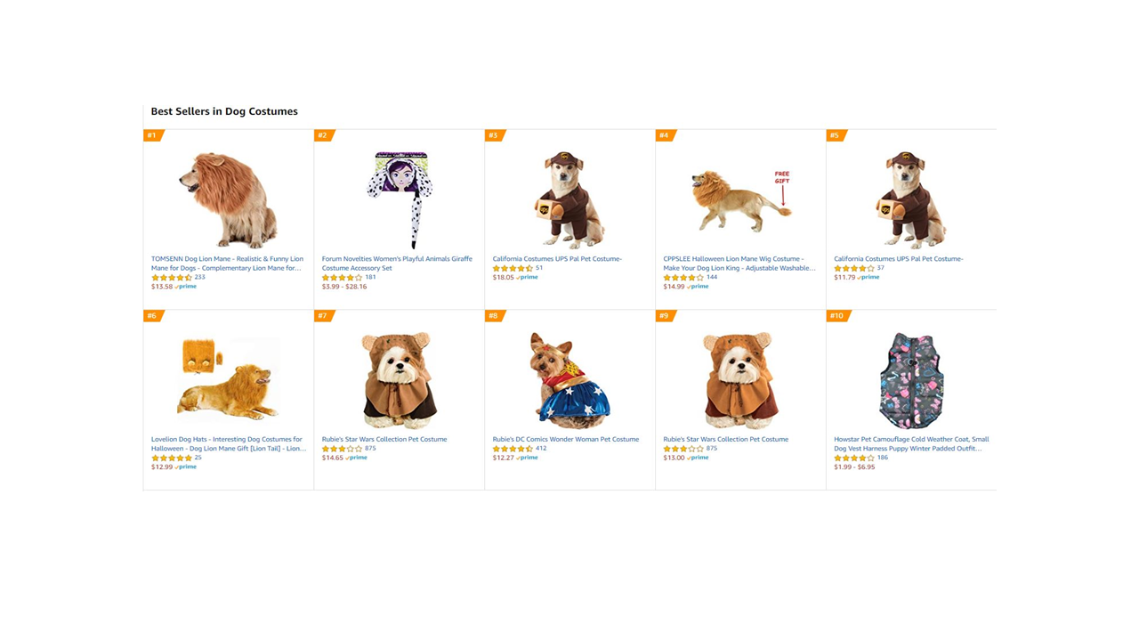 these are the top selling halloween dog costumes on amazon