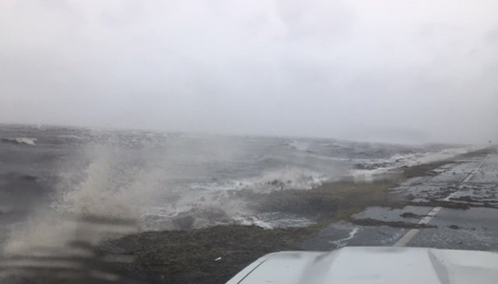 The storm is intensifying, with seaweed washing onto U.S. 98 in Franklin County, FL, on Wednesday morning. Hurricane Michael is expected to make landfall as a Category 4 on Wednesday afternoon.