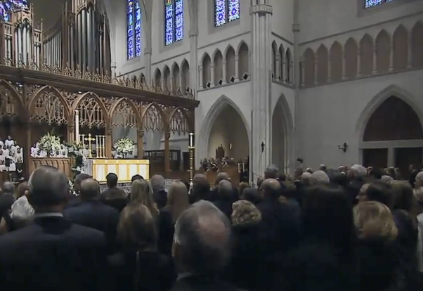 Mourners gathered Thursday in Houston to memorialize former President George H.W. Bush.