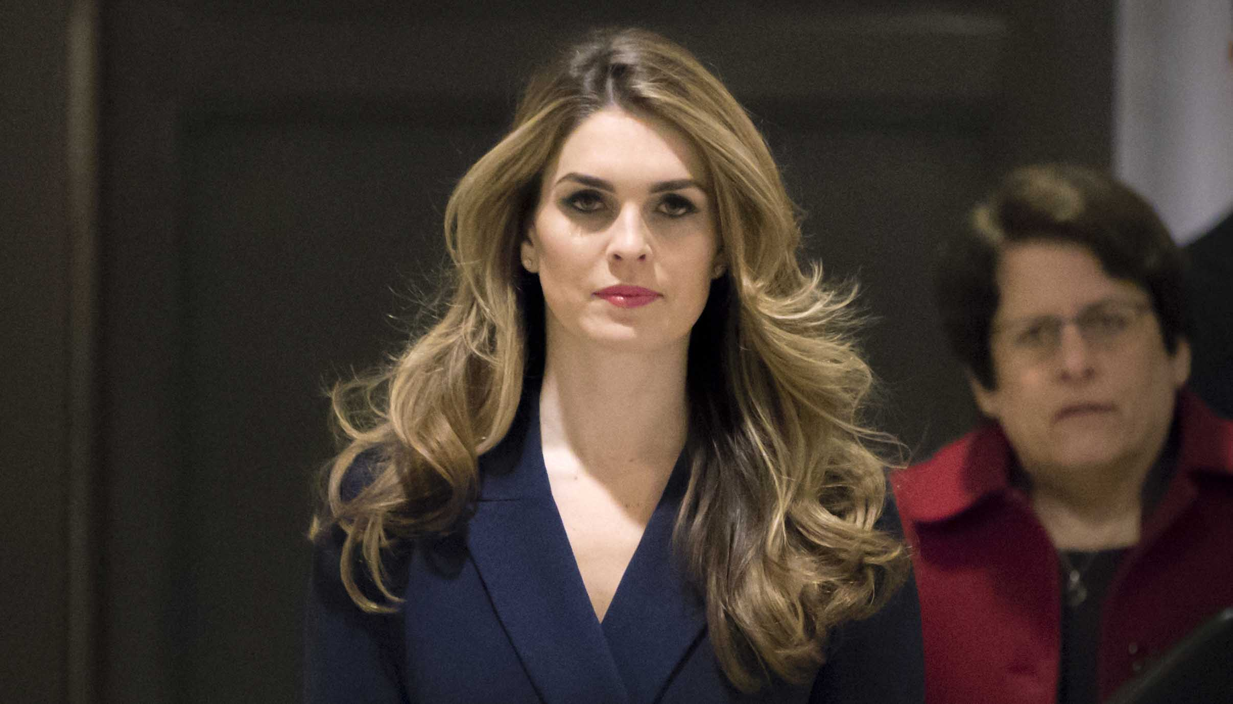 Hope Hicks - One of President Donald Trump's most loyal aides, she was Trump's fourth communications director before resigning in February. She announced the move after she was interviewed for nine hours by the panel investigating Russian interference in the 2016 election and contact between Trump's campaign and Russia. She is joining Fox News's parent company as executive vice president and chief communications officer in 2019. (AP Photo/J. Scott Applewhite)