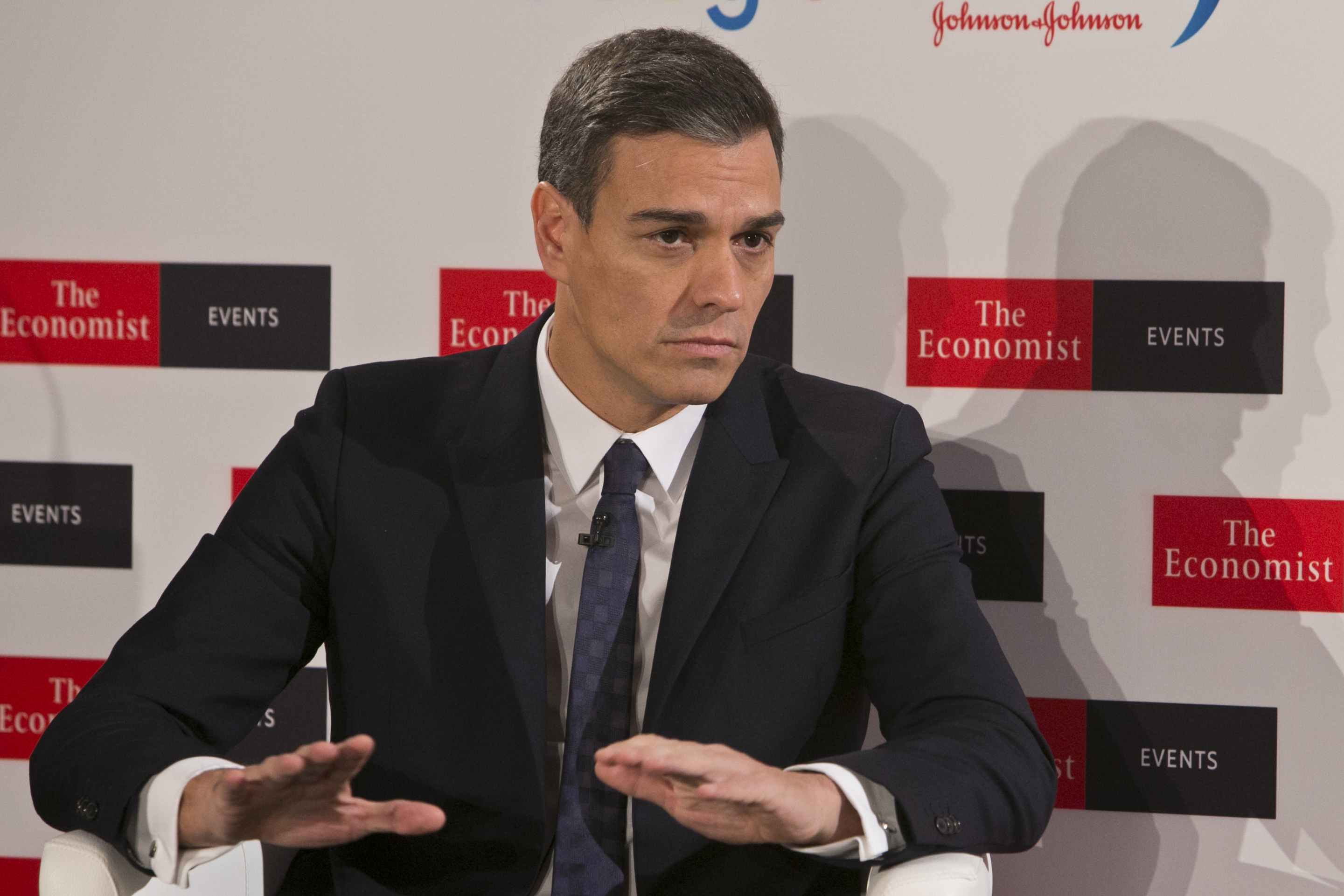 May Gets Rebellion Reprieve But Faces Warning From Allies Dont Andrew Smith Classic Formal Shirt Cokelat S Spains Prime Minister Pedro Sanchez Speaks During A Conference Organised By The Economist In