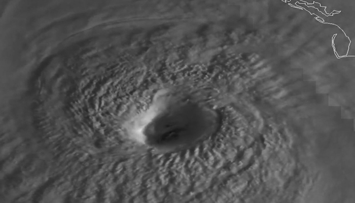 A NOAA satellite captured the well-defined eyewall of Hurricane Michael on Wednesday morning.