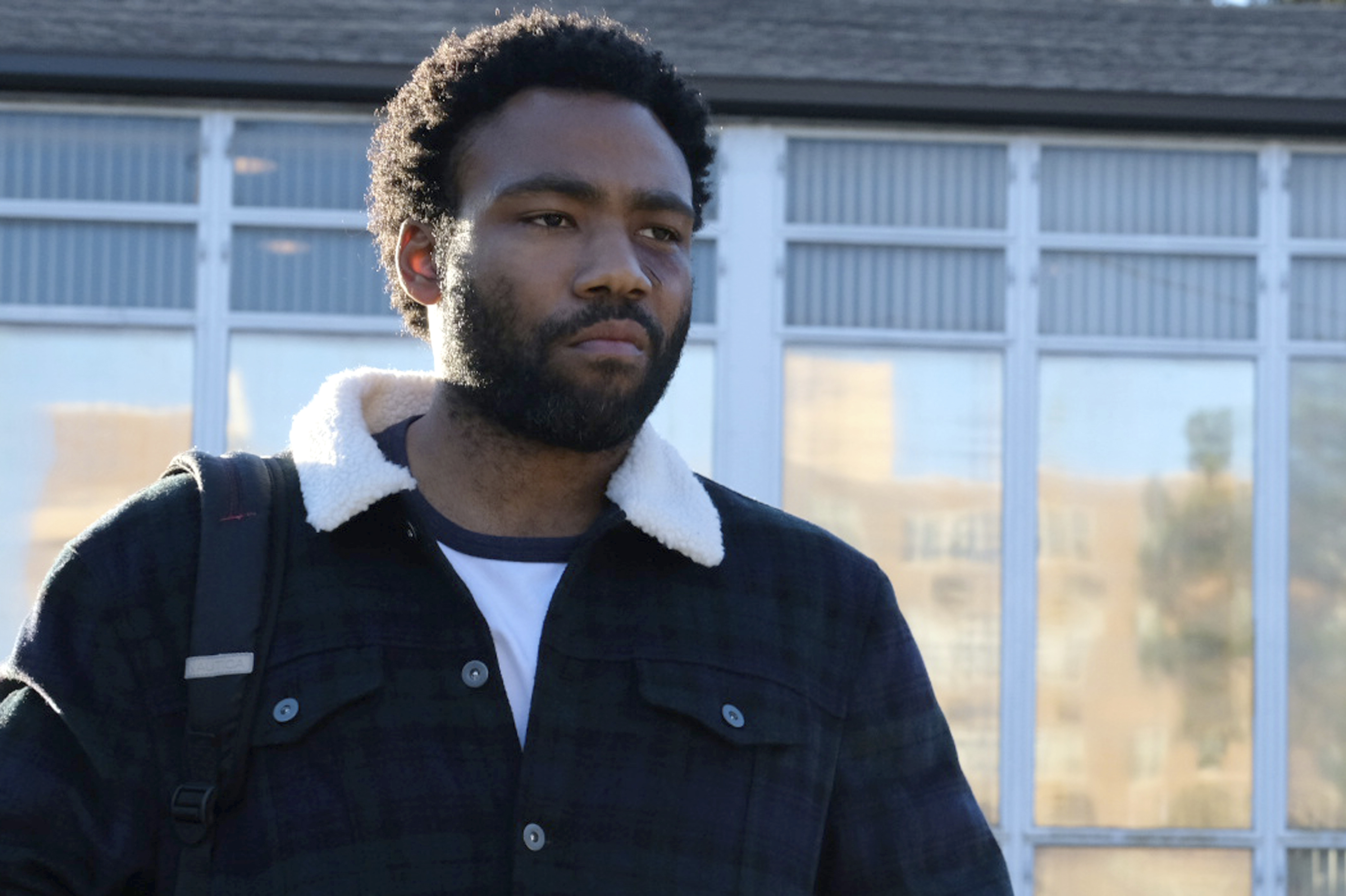 This image released by FX shows Donald Glover in a scene from the comedy series