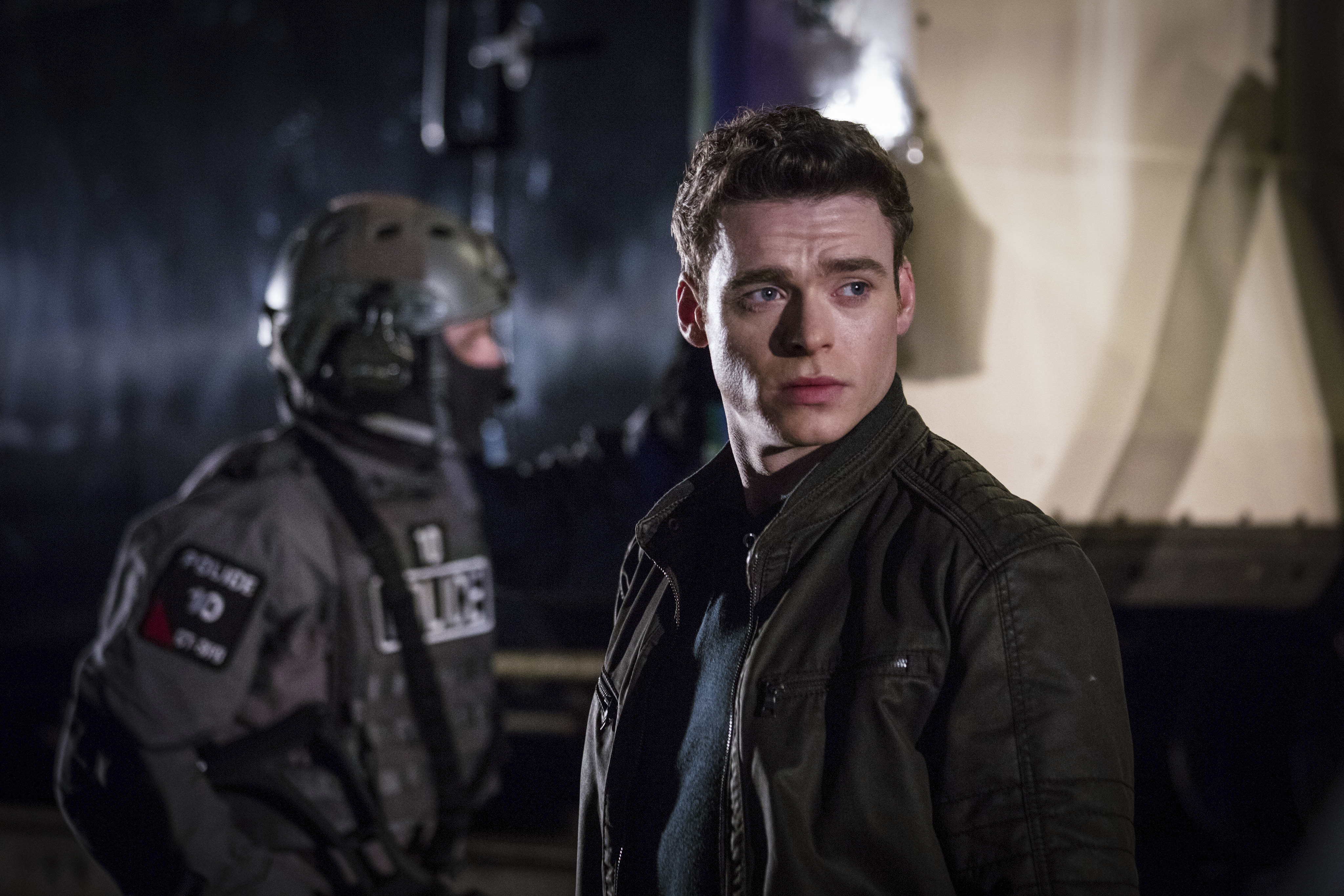 This image released by Netflix shows Richard Madden in a scene from the series