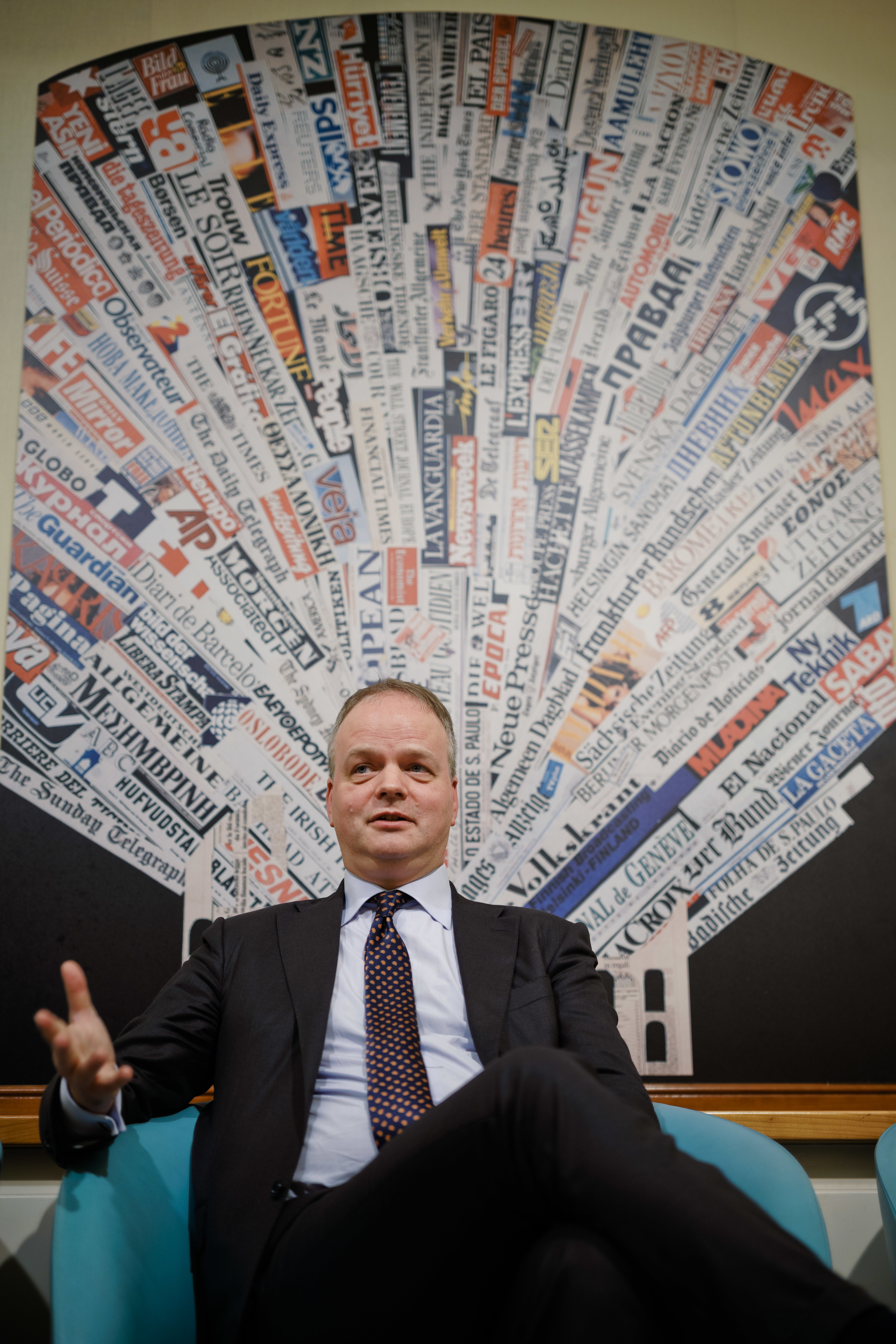 German art historian and director of the Uffizi galleries, Eike Schmidt, speaks during a press conference at the Foreign Press Club in Rome, Wednesday, Dec. 5, 2018. The Uffizi Galleries in Florence aims to discourage visitor overcrowding and ticket scalpers. Schmidt says Italy's most-visited art museum is meeting with Italian privacy guarantors to devise ways to use purchasers' photos to thwart scalpers looking to resell tickets at exorbitant prices. (AP Photo/Domenico Stinellis)