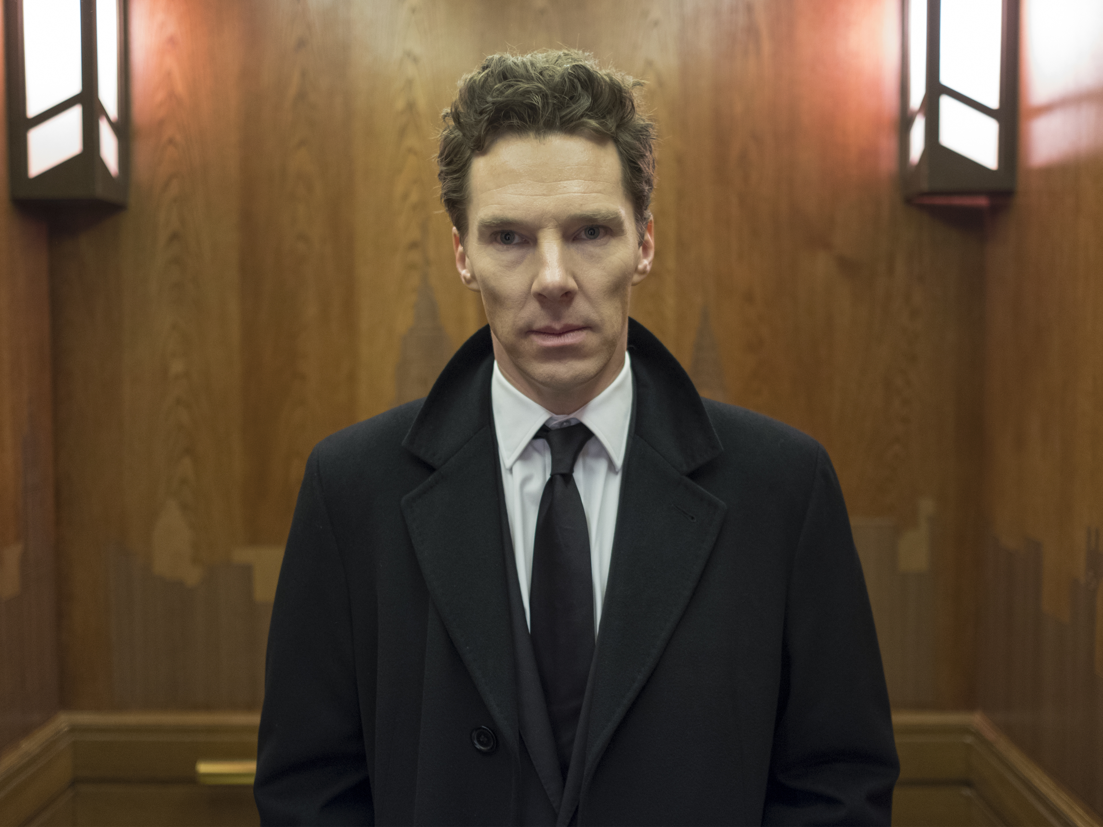 This image released by Showtime shows Benedict Cumberbatch in a scene from the series